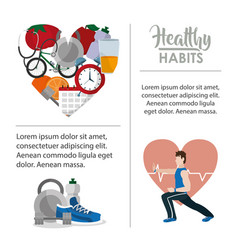 Healthy habits infographic vector