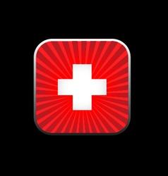 Icon white cross vector image