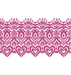 Ikat ethnic seamless stripe ornament vector