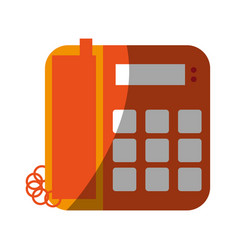 landline phone icon image vector image