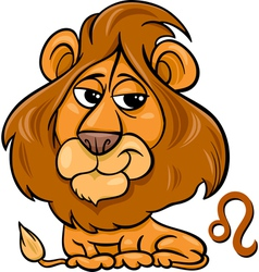 leo or the lion zodiac sign vector image