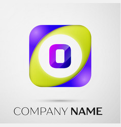 Letter o logo symbol in the colorful square on vector