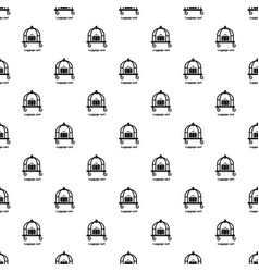 luggage cart pattern seamless vector image