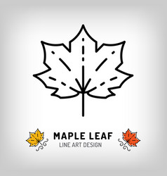 maple leaf icon autumn leaves canada symbol vector image
