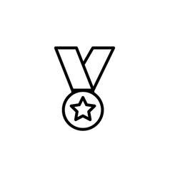 medal line icon in flat style for app ui websites vector image