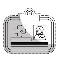 Medical id icon vector