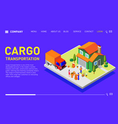 minimal modern concept for companies engaged in tr vector image