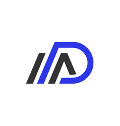 monogram logo design with letter ad vector image