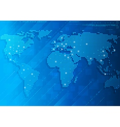 mosaic world background vector image
