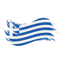 national flag of greece designed using brush vector image