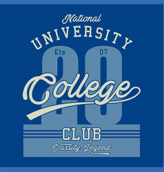 national university college vector image
