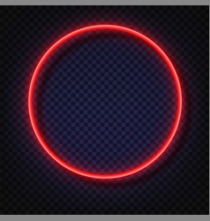 neon light round banners neon light frame vector image