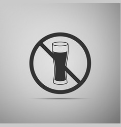 no alcohol icon isolated on grey background vector image