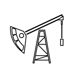 oil rig black color icon vector image
