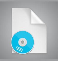 paper symbol cd vector image