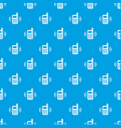 phone is ringing pattern seamless blue vector image