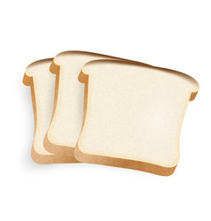 pieces of bread on a white background vector image