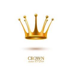 realistic 3d golden crown vector image