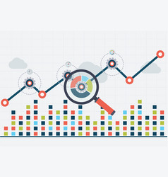 Seo optimization and business web analytics vector