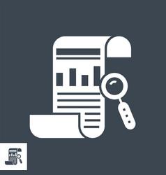 Seo report glyph icon vector