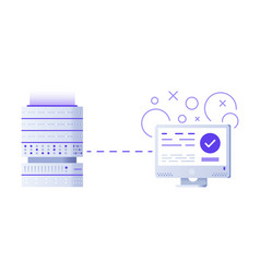 server and laptop programming concept flat vector image