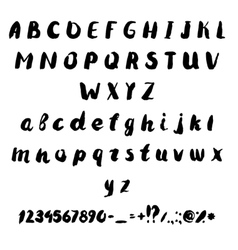 set of drawing letters of the alphabet vector image