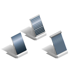 set of solar panels vector image