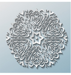 snowflakes with shadow on grey background new vector image