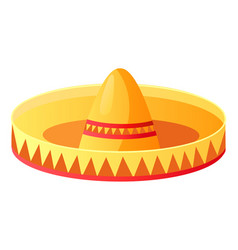 sombrero mexican hat symbolic headdress vector image