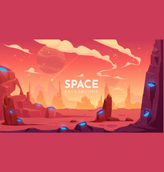 space background empty alien fantasy landscape vector image