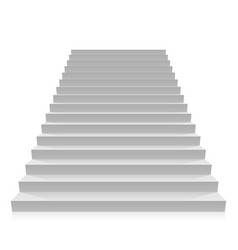 step on a white background vector image