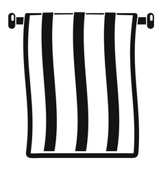 Stripped towel icon simple style vector