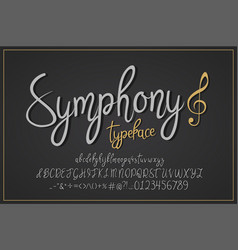 symphony vintage typeface vector image