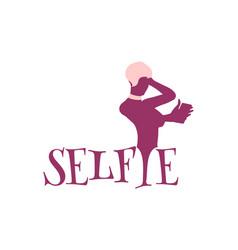 taking selfie concept vector image