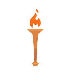 torch with bright flame vector image