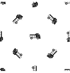 Toy truck pattern seamless black vector