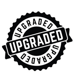 upgraded rubber stamp vector image
