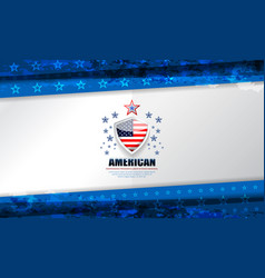 usa blue template vector image