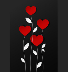 valentines day hearts card design background vector image