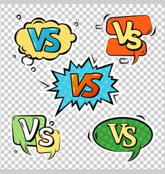 Versus logo sign set vector