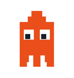 videogame pixel character icon image vector image