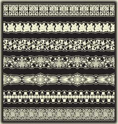 Vintage border set for design vector image