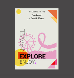 welcome to the everland south korea yongin south vector image