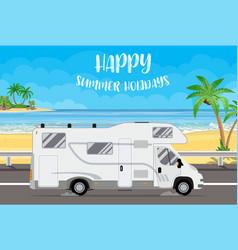 family traveler truck vector image