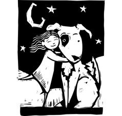 Huggy Dog vector image