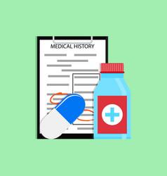patient treatment concept vector image vector image