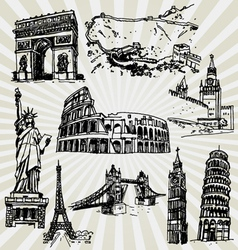 sightseeing vector image vector image