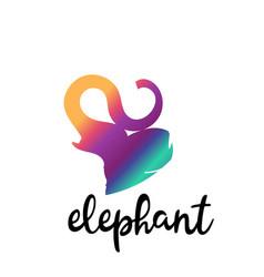 simple modern elephant logo elegant and stylish vector image vector image