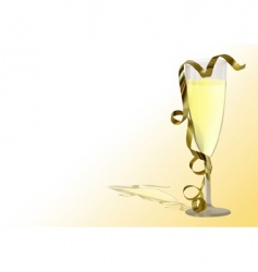 champagne toast vector image