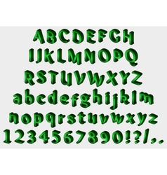 Isometric green font vector image